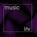 Abstrakt musikingrepp stock illustrationer