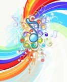 abstrakt musikregnbåge Royaltyfri Foto