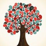 Abstrakt musiktree stock illustrationer