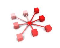 abstrakt nätverk Vektor Illustrationer