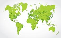 Abstrakt nätverksöversikt av världen Arkivbilder