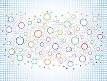 Abstrakt nätverksbakgrund II Royaltyfria Foton