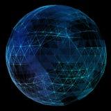 Abstrakt nätverksjordklot Arkivbilder