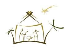 abstrakt nativitysymbol stock illustrationer