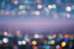 Abstrakt nattljus Bokeh, suddig bakgrund Royaltyfri Foto