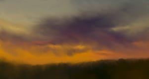 Abstrakt naturbakgrund med färgrik solnedgång Royaltyfria Bilder