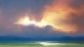 Abstrakt naturbakgrund med färgrik solnedgång Royaltyfri Foto