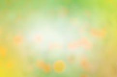Abstrakt naturlig bakgrund för guling och för gräsplan Royaltyfria Foton