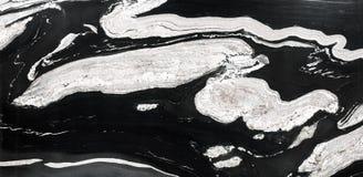 Abstrakt naturlig granit som är svartvit för design Arkivfoton