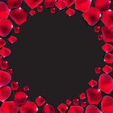 Abstrakt naturlig Rose Petals Frame Background Realistic vektor stock illustrationer