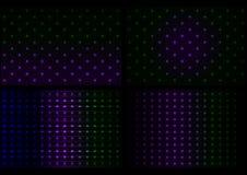 Abstrakt neonbakgrundssamling stock illustrationer