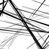 Abstrakt, nieregularny linia wzór, tło Monochromatyczny geomet ilustracja wektor