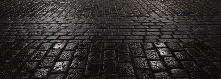 Abstrakt nocy miasta Mokry bruk Zdjęcia Stock
