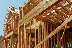 Abstrakt Nowa Domowa budowy otoczka Zdjęcia Stock