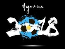 Abstrakt nummer 2018 och fläck för fotbollboll vektor illustrationer