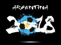 Abstrakt nummer 2018 och fläck för fotbollboll royaltyfri illustrationer