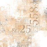 Abstrakt nummercollage Vektor Illustrationer