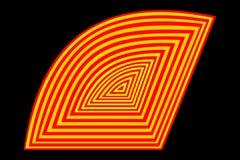 Abstrakt obestämbar form med band vektor illustrationer