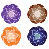 Abstrakt objekt vektor illustrationer
