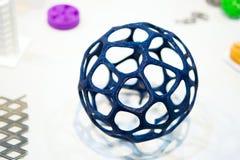 Abstrakt objekt som skrivs ut av närbild för skrivare 3d Fotografering för Bildbyråer