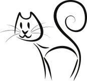 Abstrakt obrysowywał kota ilustracji