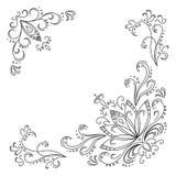 abstrakt obrysowywa lotosu wzór Fotografia Stock