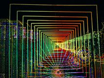 Abstrakt och futuristisk mångfärgad ledd ljusbakgrund royaltyfria foton
