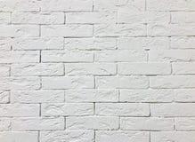 Abstrakt och vit bakgrund för tegelstenvägg Royaltyfri Foto
