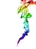 abstrakt odizolowywający dymny biel Zdjęcie Stock
