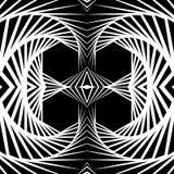 Abstrakt odzwierciedlający vortex tło, wzór Spirally monochrom royalty ilustracja