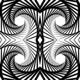 Abstrakt odzwierciedlający vortex tło, wzór Spirally monochrom ilustracja wektor