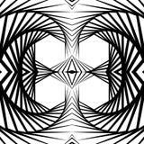 Abstrakt odzwierciedlający vortex tło, wzór Spirally monochrom ilustracji