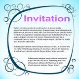 Abstrakt Okrążał zaproszenie. Wektorowa ilustracja Zdjęcia Royalty Free