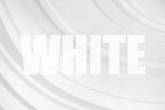 abstrakt okrąża biel Fotografia Royalty Free