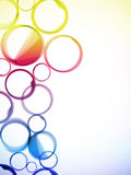 abstrakt okrąża kolorowego Zdjęcie Royalty Free