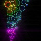 abstrakt okrąża kolorowego ilustracji