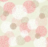 abstrakt okrąża kropki wzoru polkę bezszwową Obraz Stock