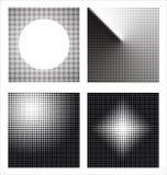 abstrakt olik rasterset Arkivfoto
