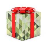Abstrakt Olive Green Polygon Geometric Textured gåvaask med beträffande Arkivfoton