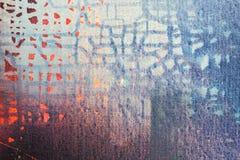 Abstrakt olja målad textur på kanfas royaltyfri foto