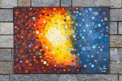 abstrakt oljemålning stock illustrationer