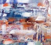 abstrakt oljemålning Arkivbilder