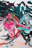 abstrakt oljemålning Arkivbild