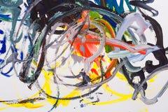 abstrakt oljemålning Royaltyfri Fotografi