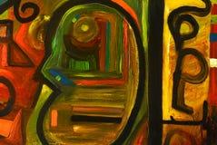 Abstrakt oljemålning Arkivfoton