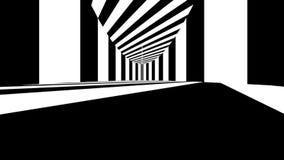 Abstrakt optisk konst black lines white Arkivfoto