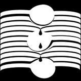 Abstrakt optisk vit linje former för vektor i svart bakgrund som formar skedar som dryper droppar Royaltyfri Bild