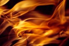 Abstrakt orange brännhet vågbakgrund royaltyfri foto