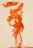 Abstrakt orange form Arkivfoton