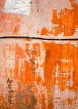 Abstrakt orange gammal vägg Royaltyfri Foto